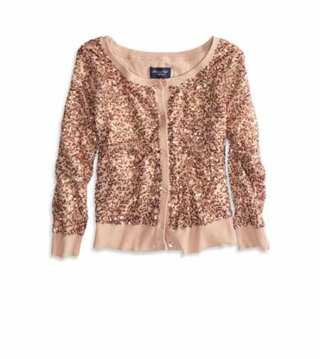 AE Sequined Crop Cardigan