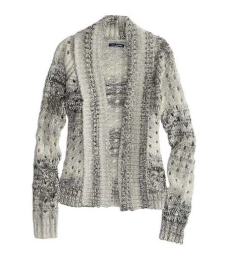 AE Open Metallic Knit Cardigan
