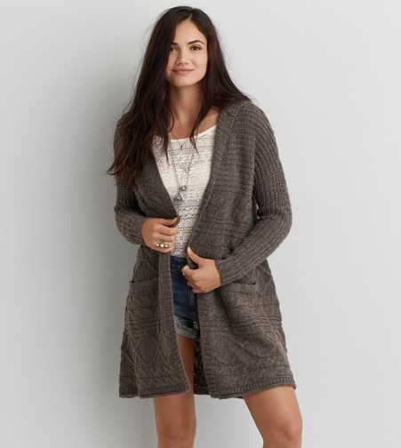 AEO Oversized Hooded Cardigan