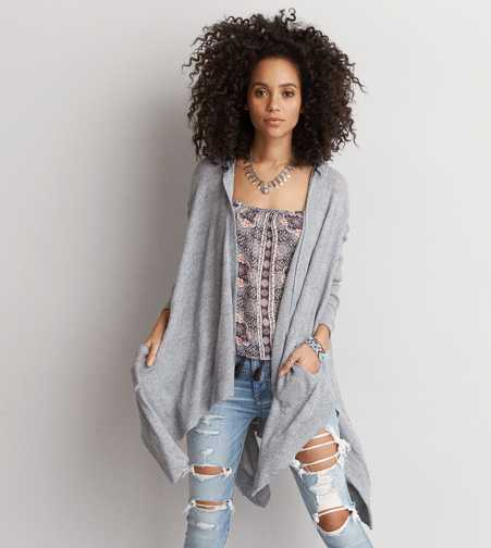 AEO Feather Light Hooded Cardigan