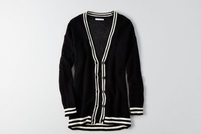 Tipped Mesh Cardigan