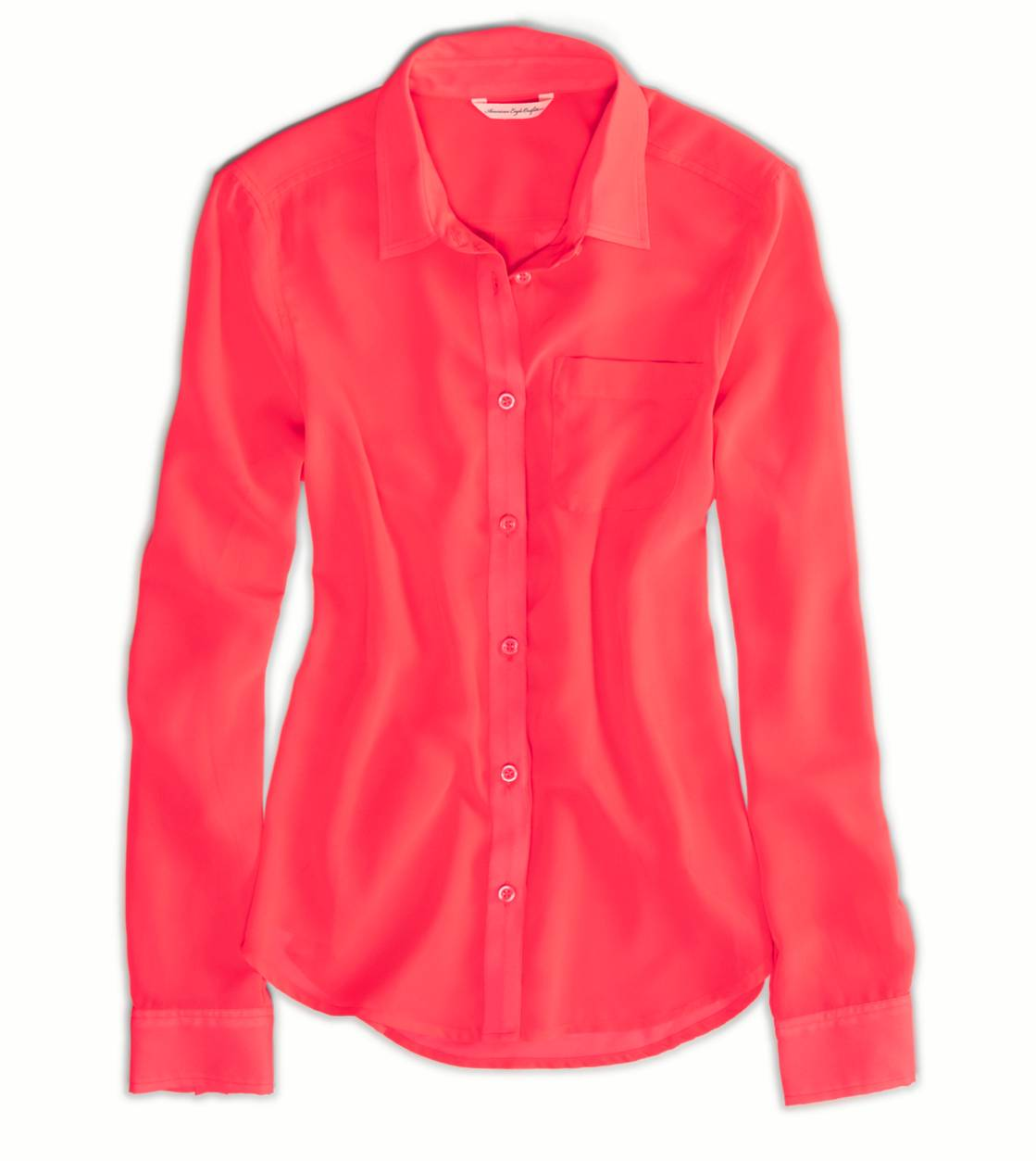 Neon Flame AE Sheer Chiffon Shirt