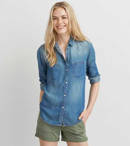 AEO Western Denim Shirt