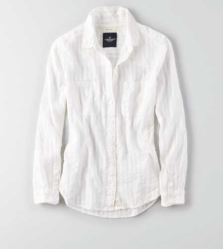 AEO Boyfriend Button Down Shirt