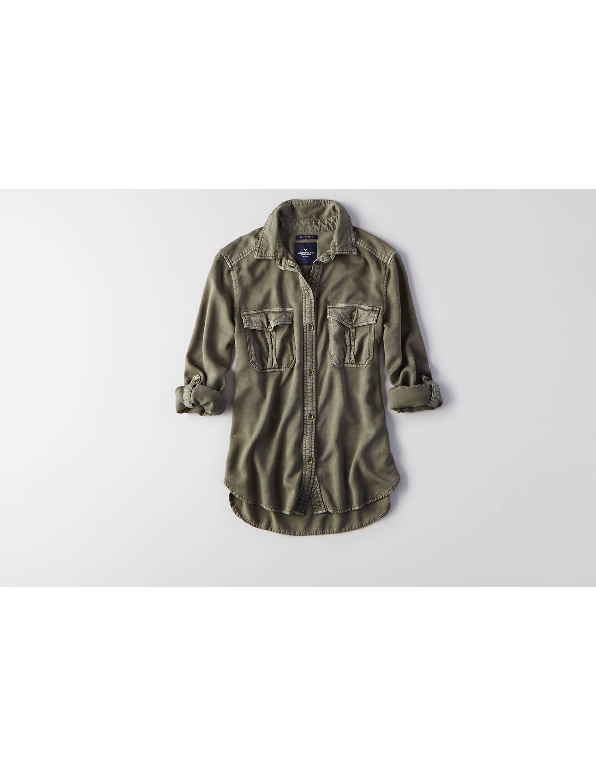 Display product reviews for AEO Woven Utility Shirt