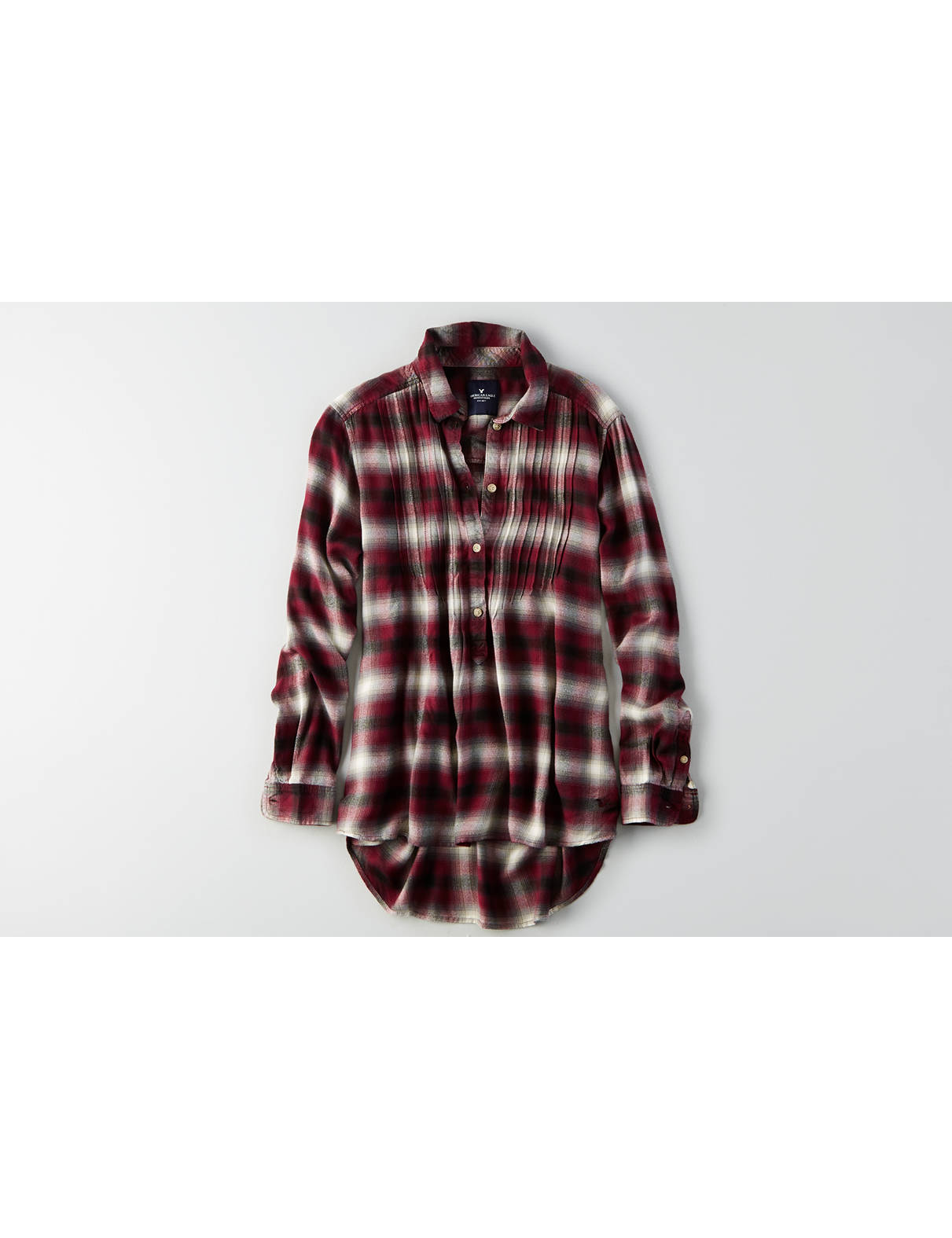 Display product reviews for AEO Plaid Popover Shirt