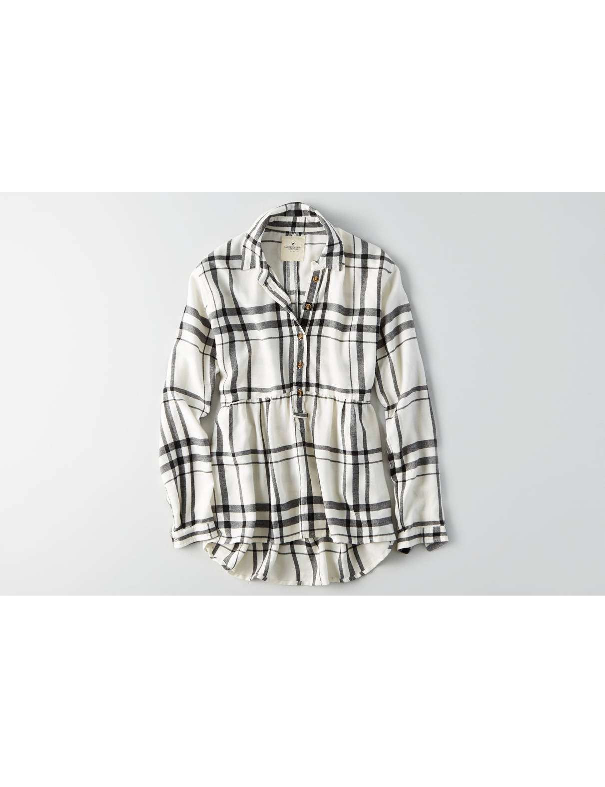 Display product reviews for AEO Ahh-mazingly Soft Plaid Babydoll Shirt