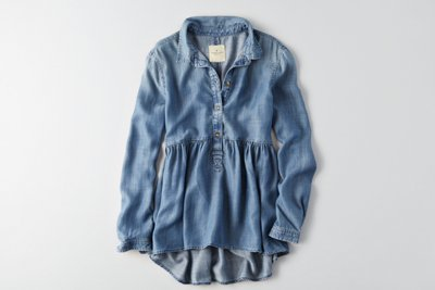 Chambray Babydoll Shirt