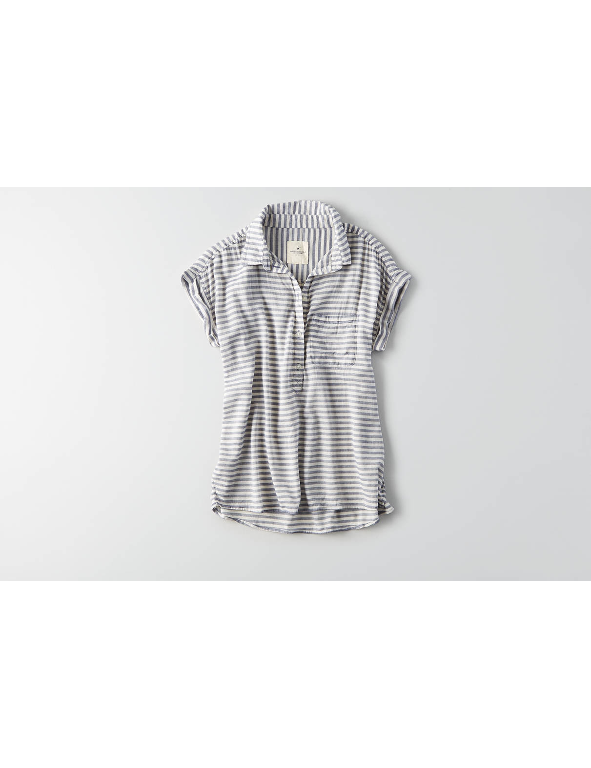 Display product reviews for AEO Striped Popover