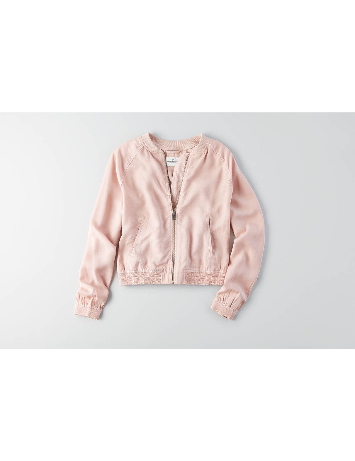 Display product reviews for AEO Tencel Bomber Jacket