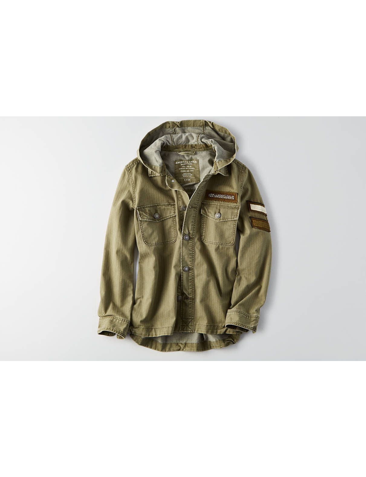 Display product reviews for AEO Patched Utility Jacket