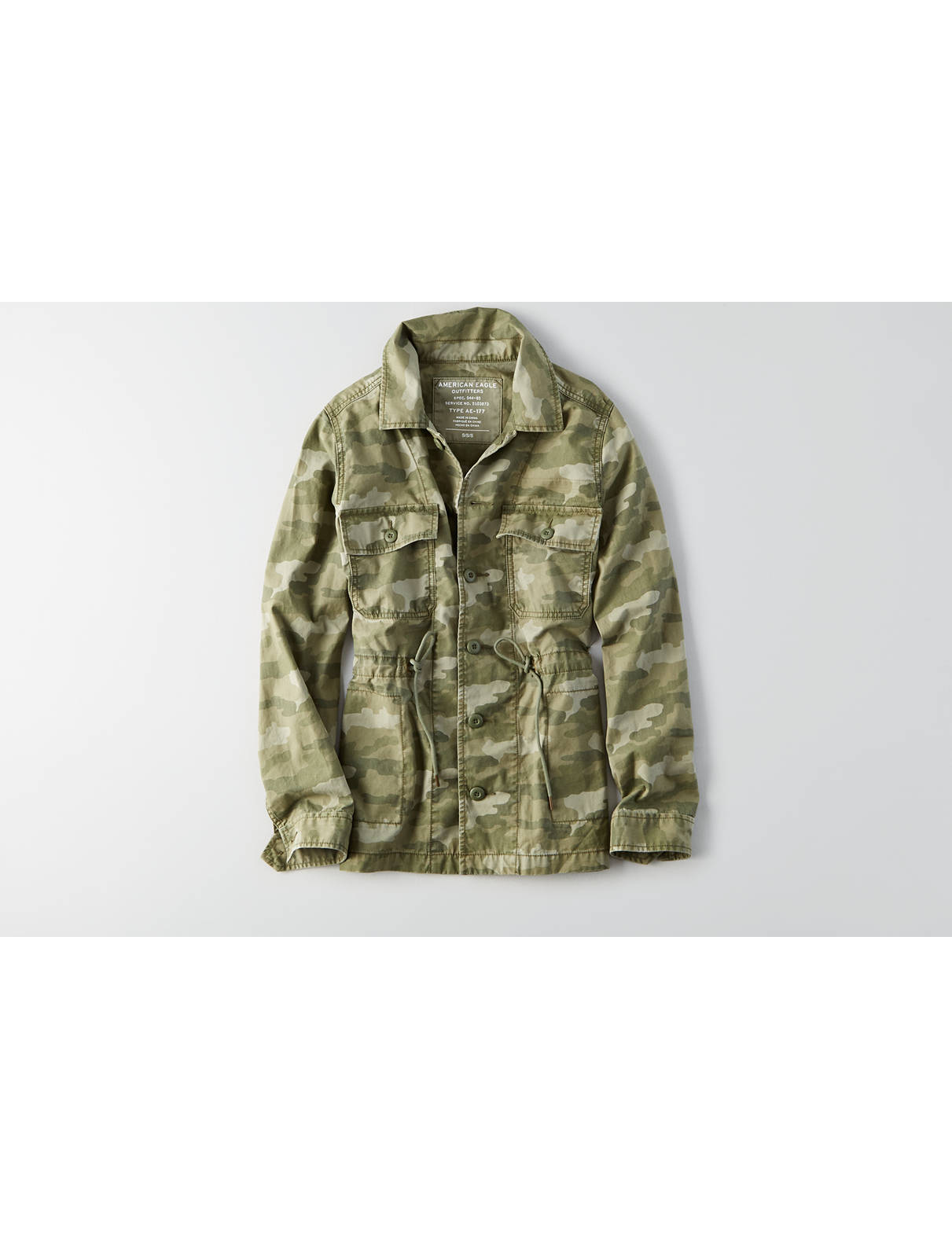 Display product reviews for AEO Camo Jacket