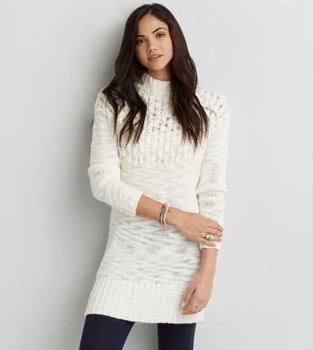 AEO Cable Turtleneck Dress