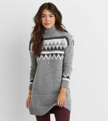 AEO Mock Neck Sweater Dress