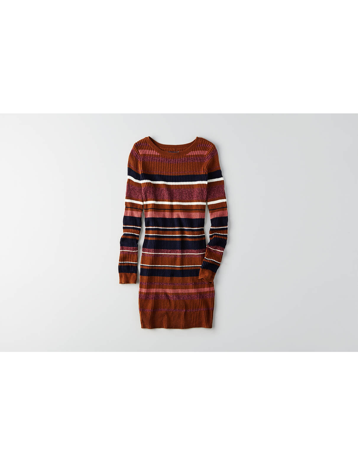 Display product reviews for AEO Striped Crew Neck Sweater Dress