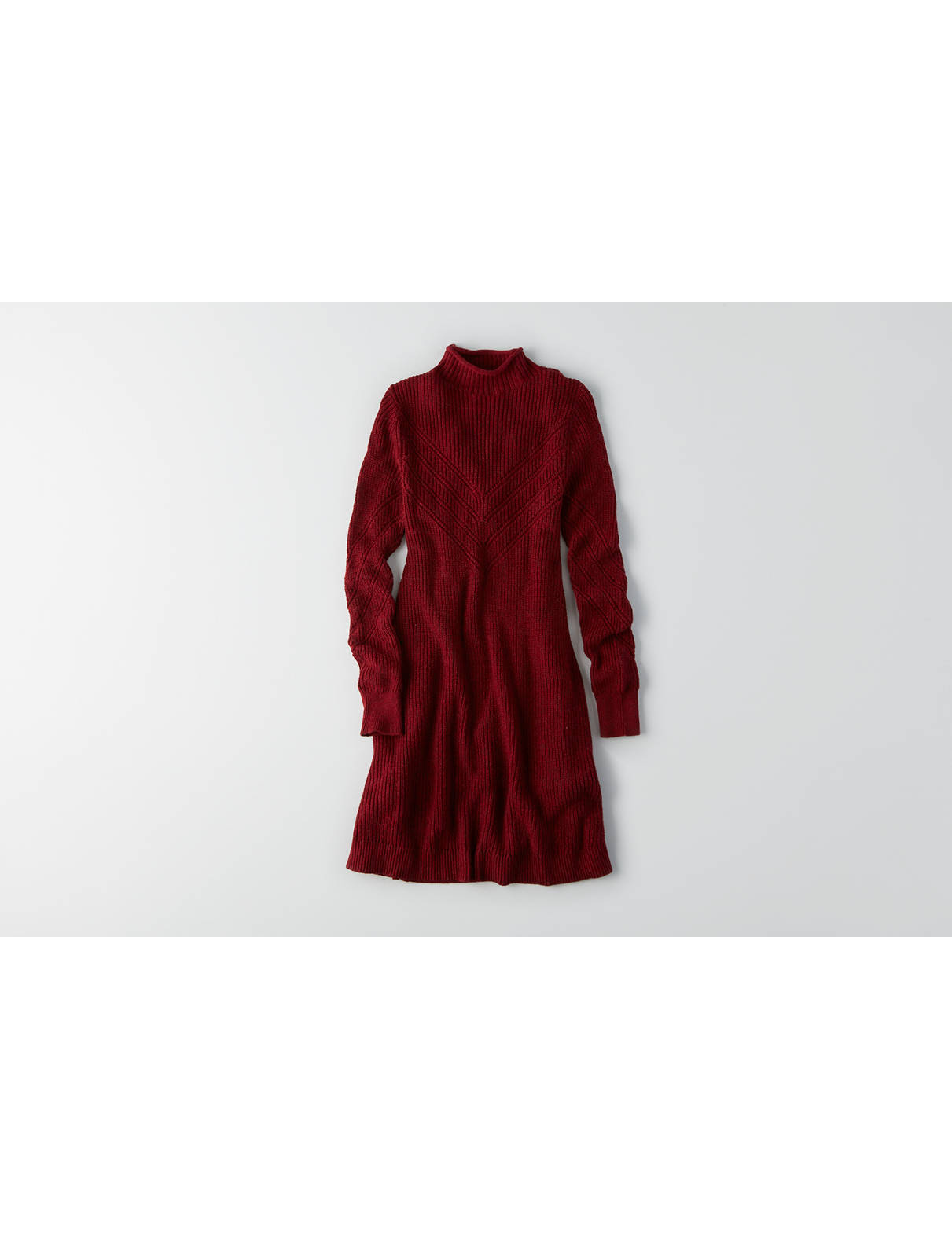 Display product reviews for AEO Textured Mock Neck Dress