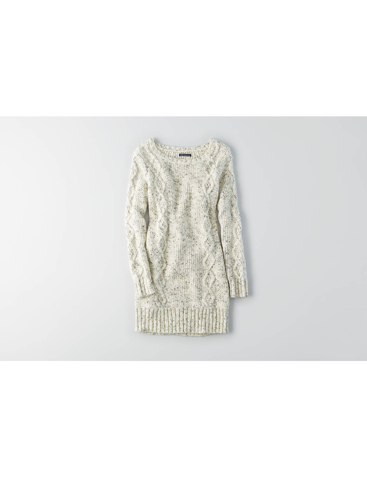 Display product reviews for AEO Cable Tunic Sweater Dress