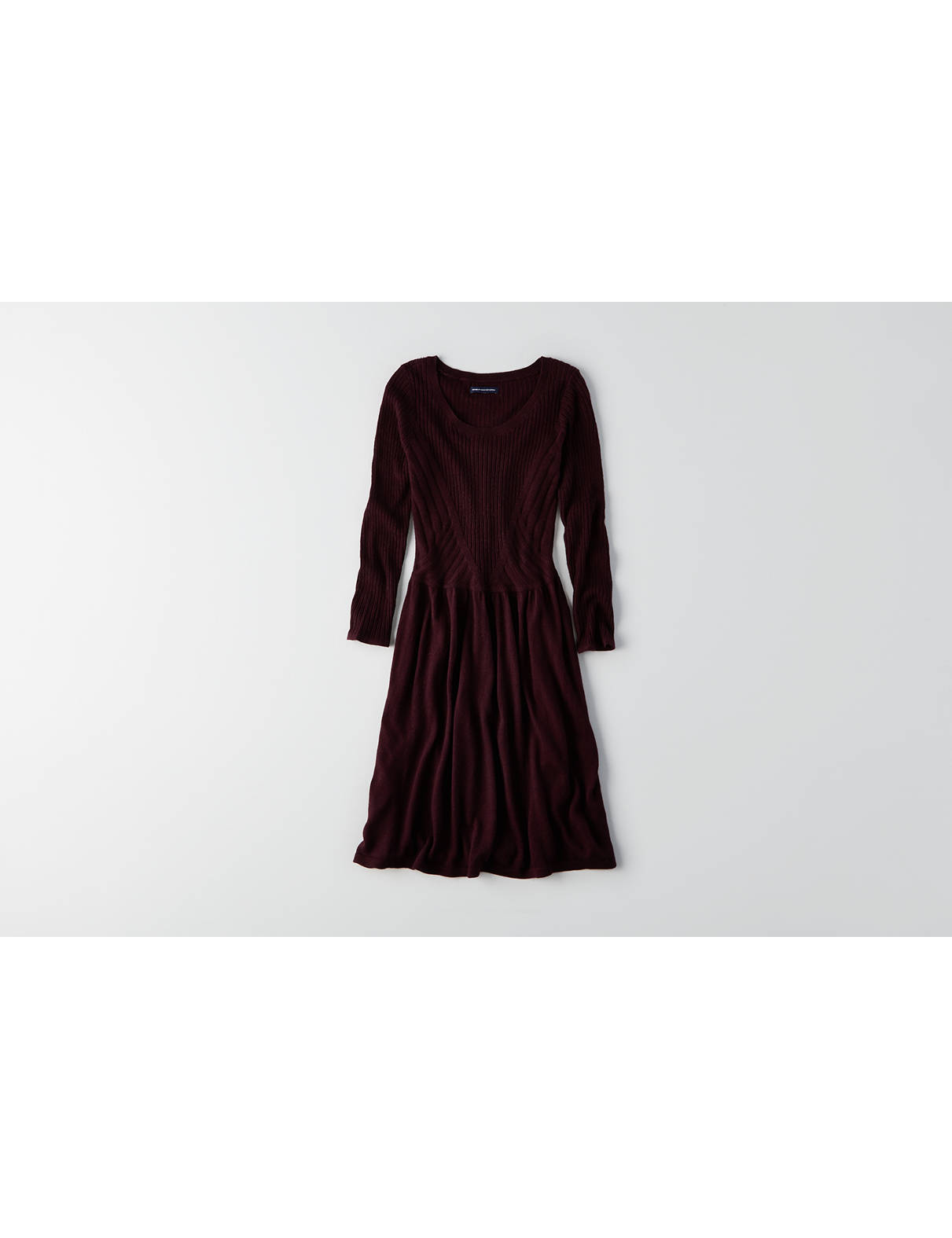 Display product reviews for AEO Textured Fit & Flare Dress