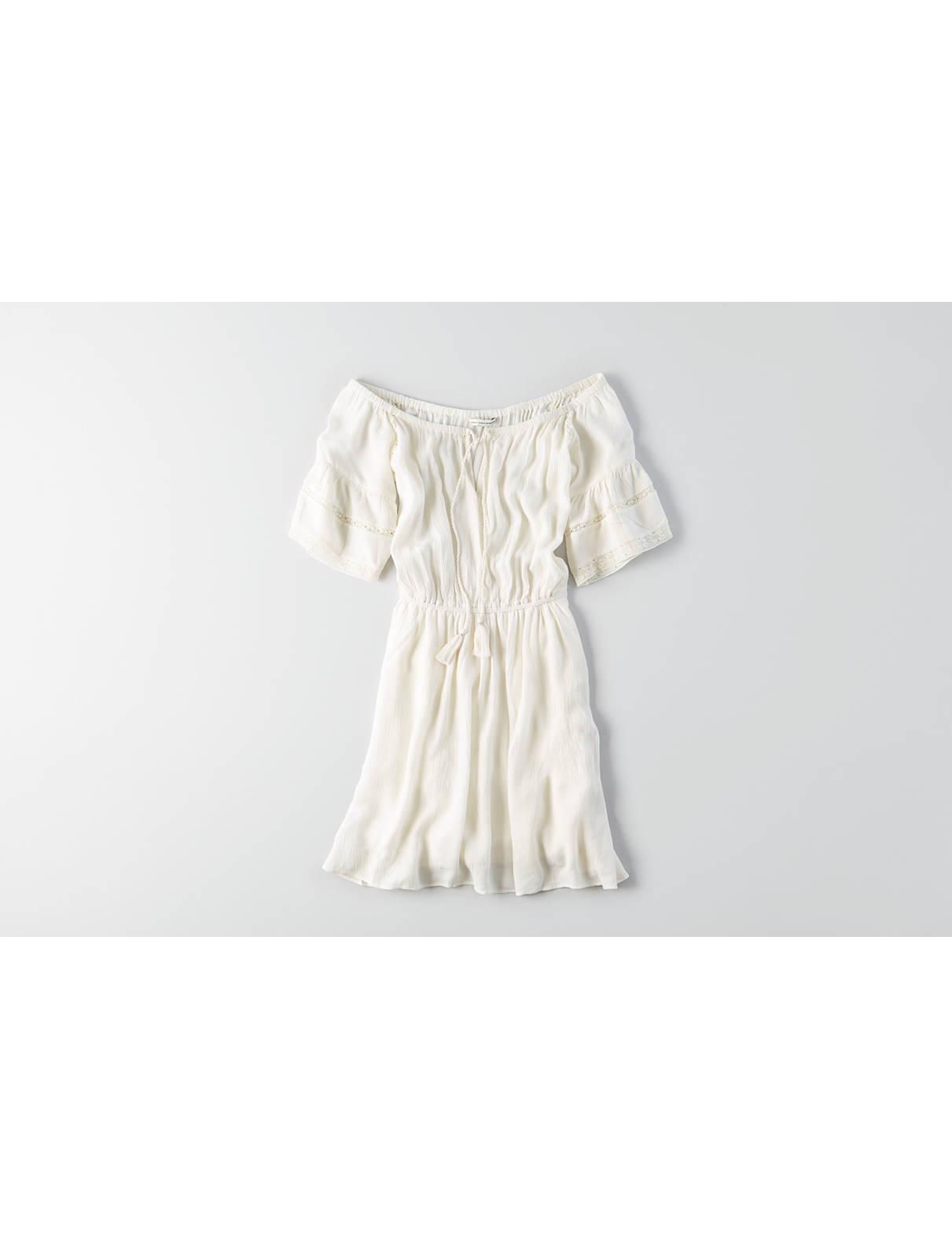 Display product reviews for AEO Fit & Flare Tassel Dress