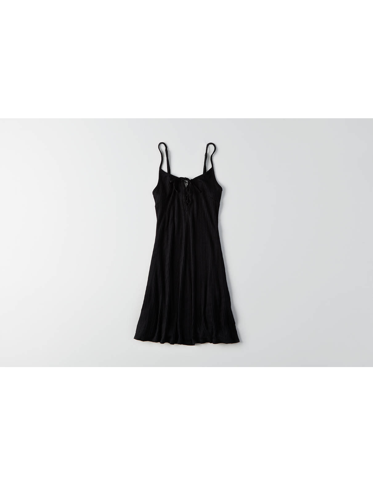 Display product reviews for AEO Lace-Up Fit & Flare Dress
