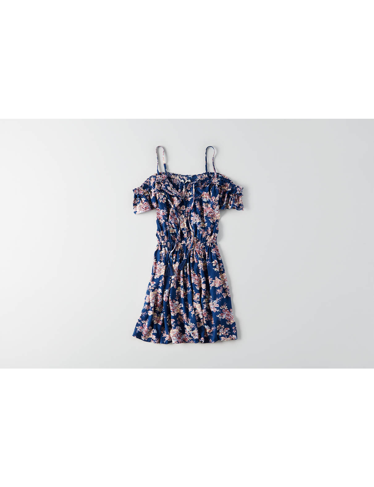 Display product reviews for AEO Cold Shoulder Tassel Tie Dress