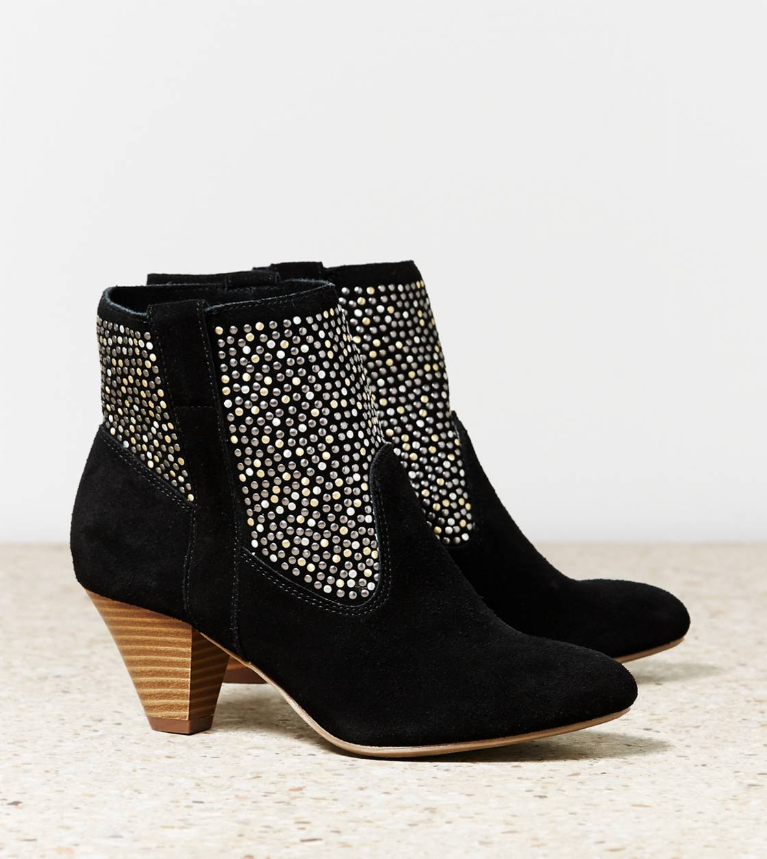 Black AEO Studded Bootie