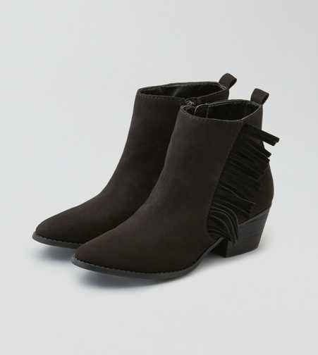 AEO Side Fringe Heeled Bootie  - Free Shipping