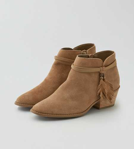 AEO Western Leather Bootie