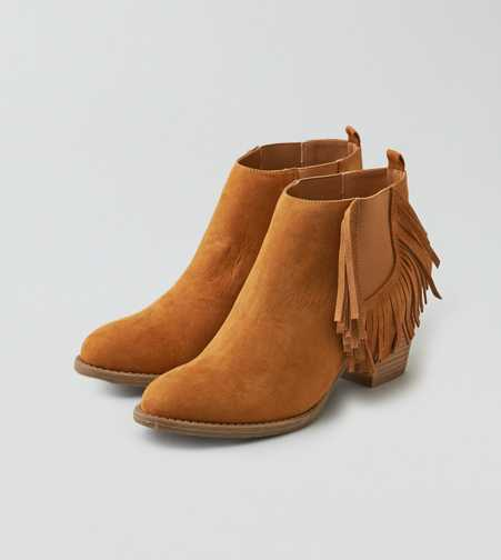 AEO Fringe Heel Bootie  - Free Shipping