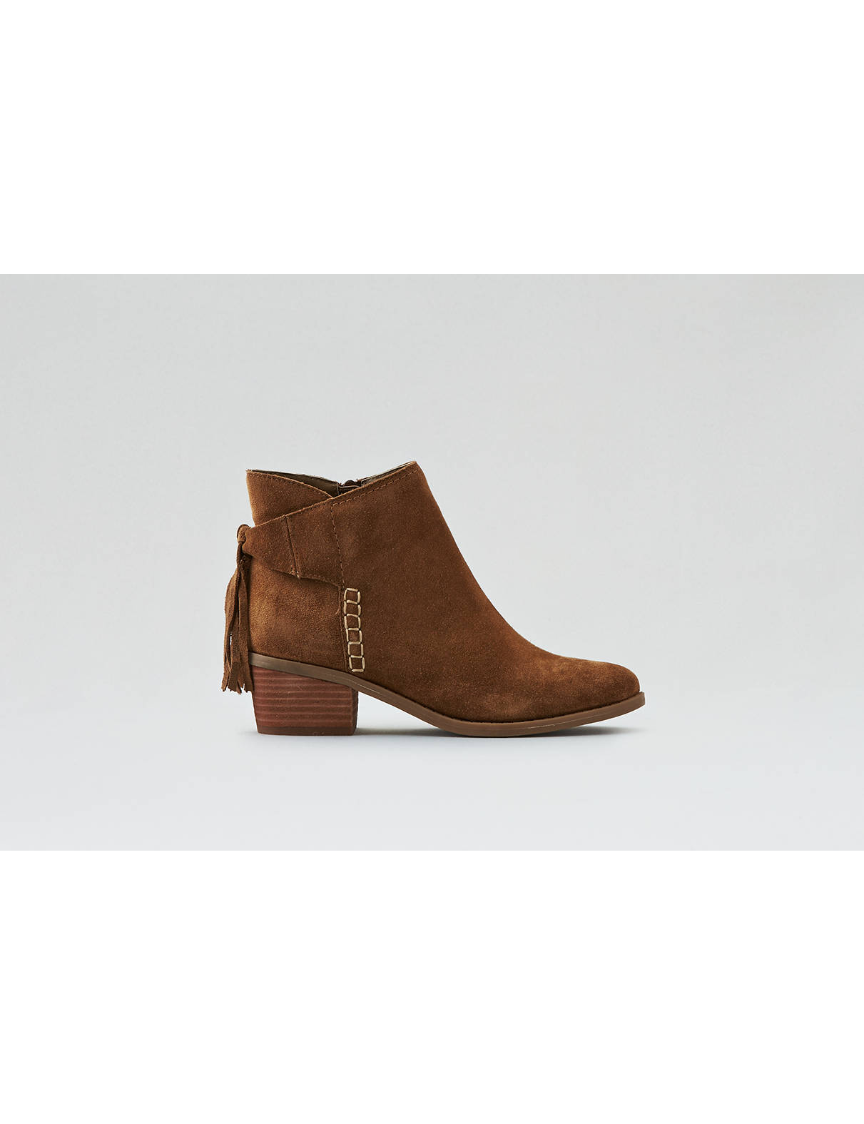 Display product reviews for AEO Tassel Ankle Bootie