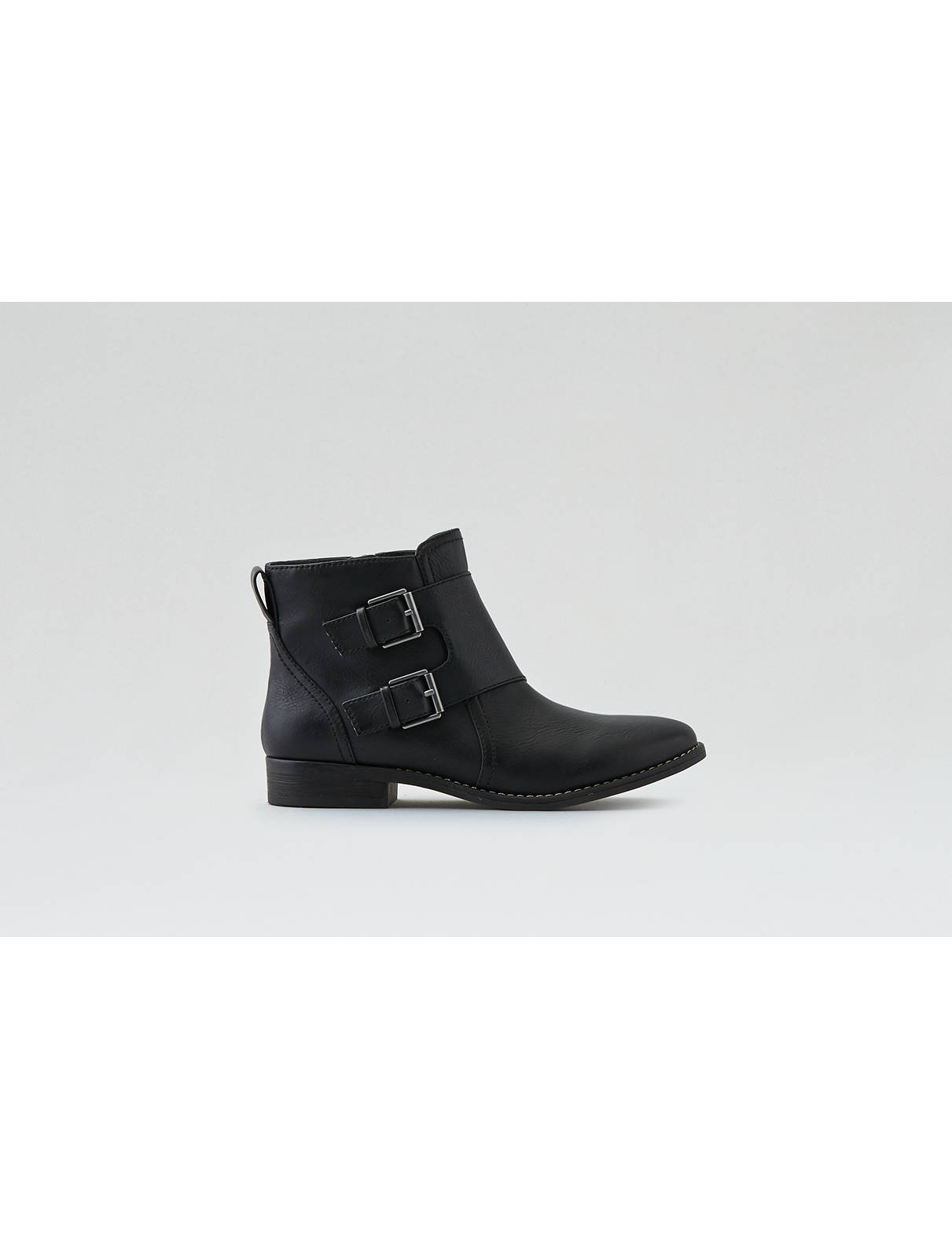 Display product reviews for AEO Buckled Ankle Bootie