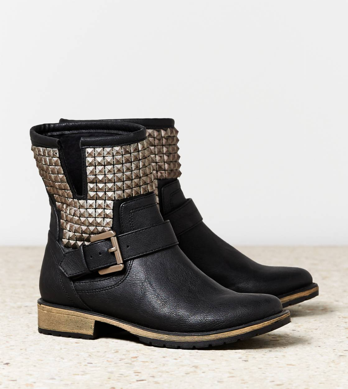 Black AEO Studded Moto Boot