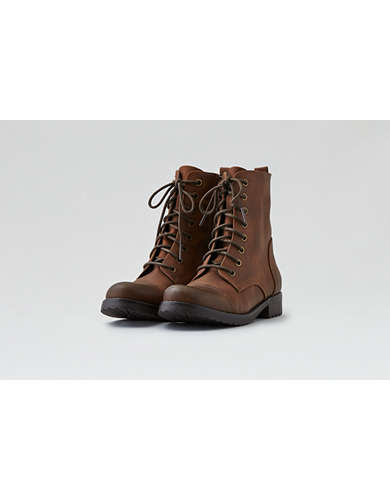 Lace Up Leather Boots American Eagle Outfitters