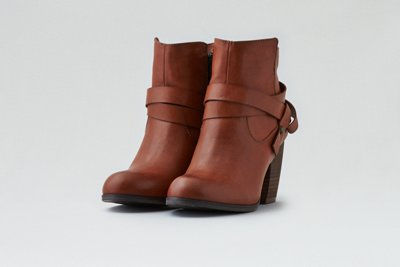 Strapped Heeled Bootie