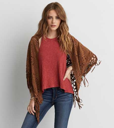 AEO Perforated Shawl