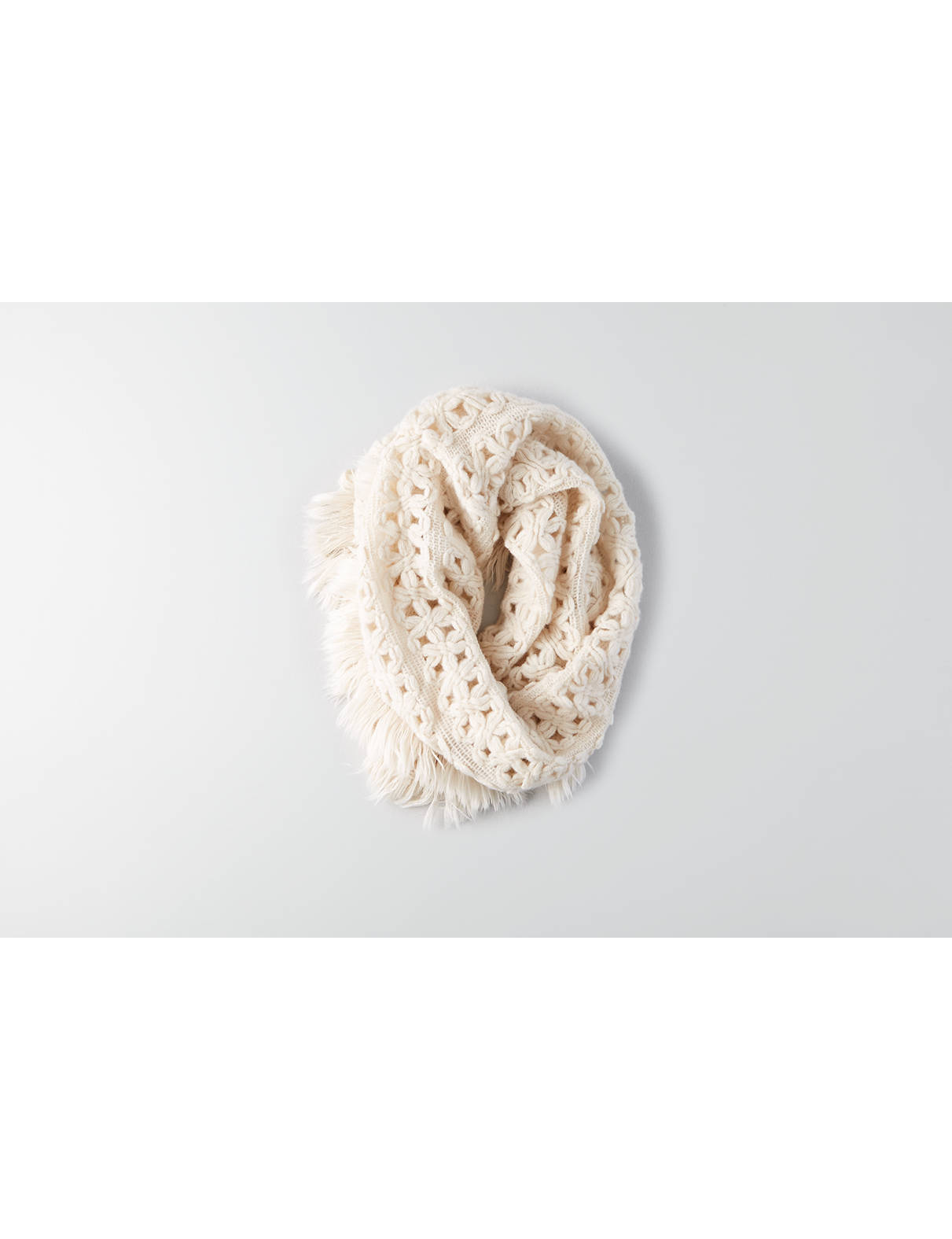 Display product reviews for AEO Fringe Trim Snood