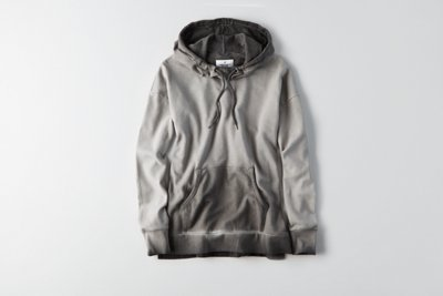 Washed Cowl Neck Hoodie