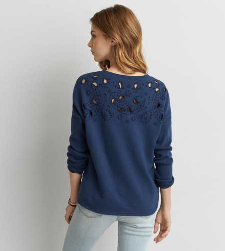 AEO Cutout Shoulder Sweatshirt