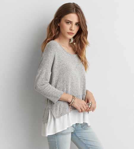 AEO Plush Scoop Neck Sweatshirt