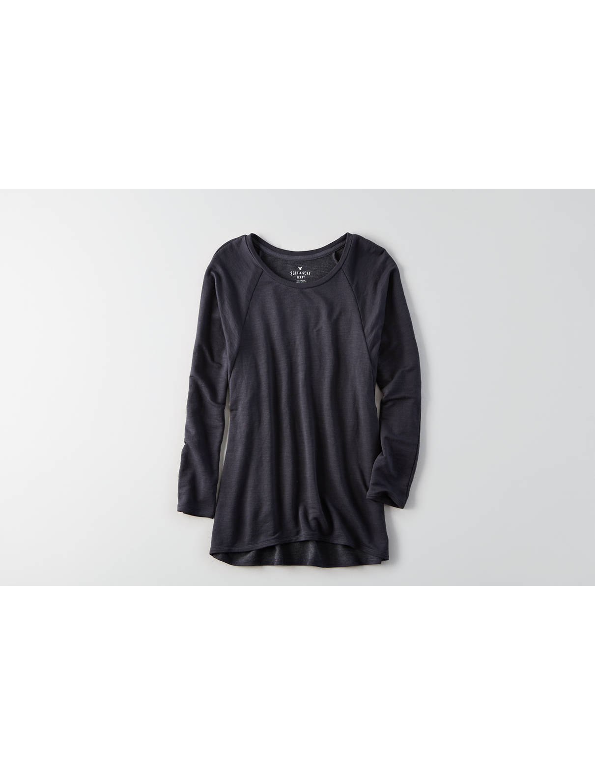 Display product reviews for AEO Soft & Sexy Terry Raglan Sweatshirt
