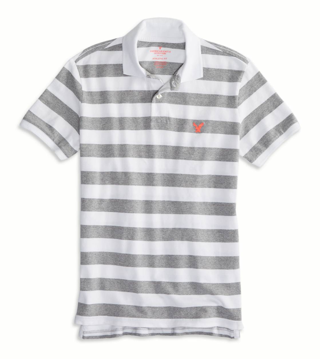 Derby Grey Marl AEO Factory Striped Polo