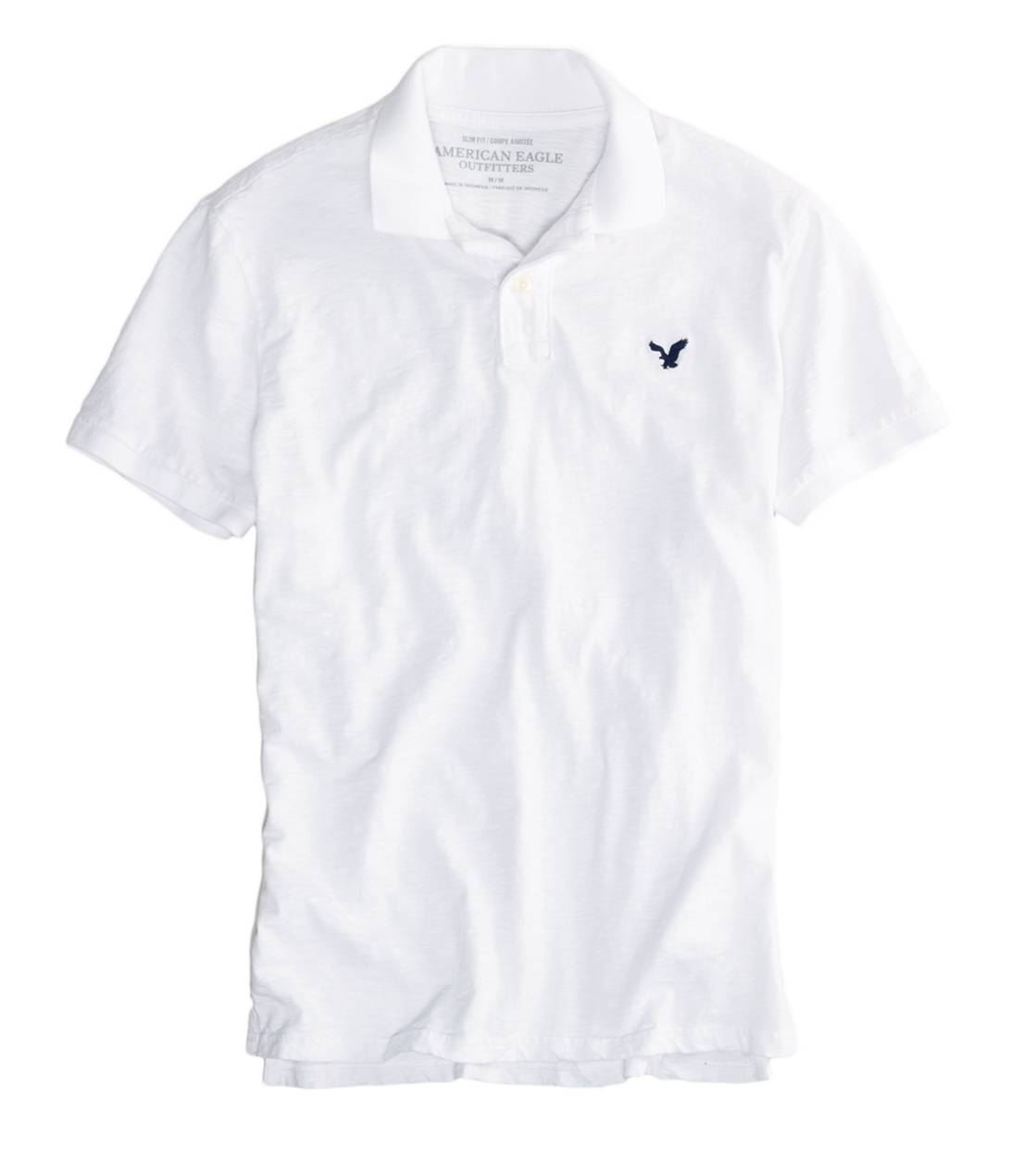 White  AEO Factory Jersey Polo