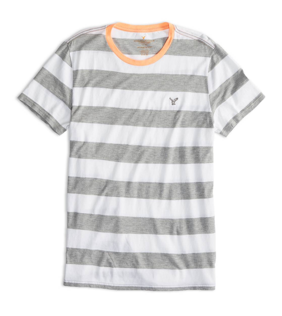 Derby Grey Marl AEO Factory Striped T-Shirt