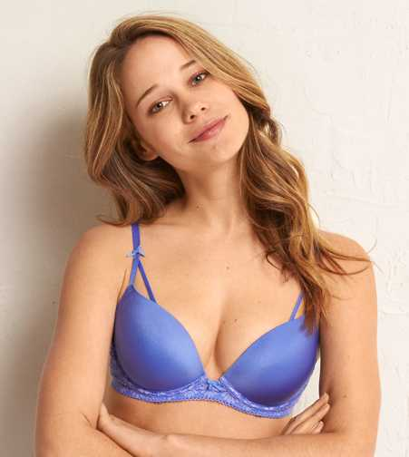 Emma Lace Longline Pushup Bra - Free Shipping & Returns
