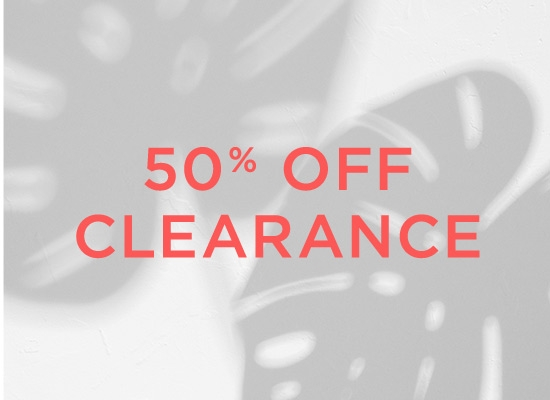 50 percent off clearance