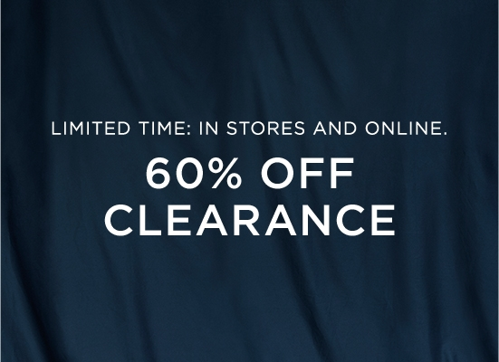 Limited Time In Stores and Online 50 percent off clearance