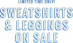 Limited time only Sweatshirts and leggings on sale