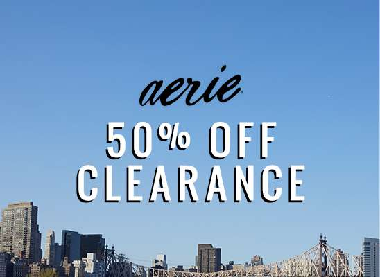 Aerie 50 percent off clearance