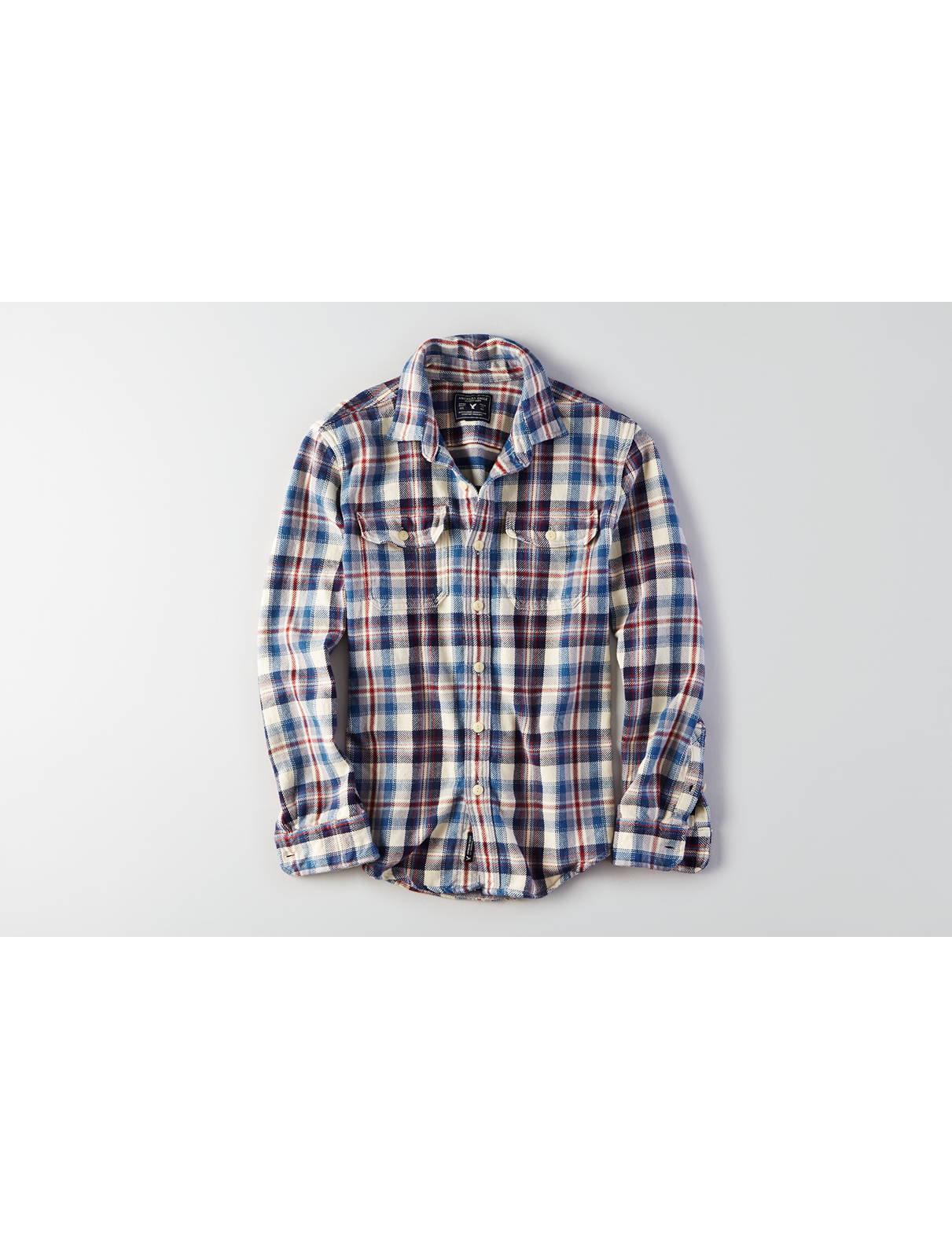 Display product reviews for AEO Plaid Twill Flannel Shirt