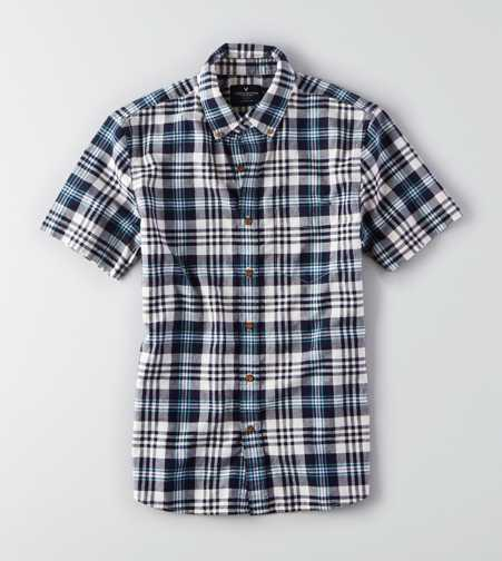 AEO Plaid Short Sleeve Shirt